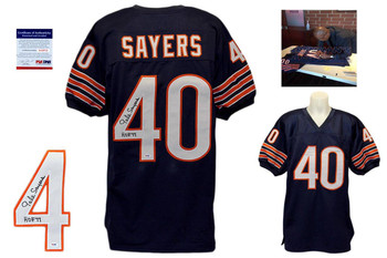 Gale Sayers Signed Jersey - PSA DNA - Chicago Bears Autographed