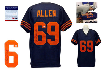 Jared Allen Signed Throwback Jersey - PSA DNA ITP - Chicago Bears Autographed