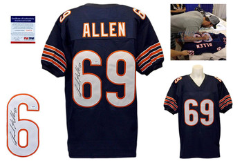 Jared Allen Signed Navy Jersey - PSA DNA ITP - Chicago Bears Autographed