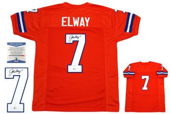 John Elway Autographed Jersey - Beckett Authentic - Orange Crush