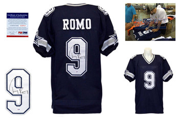 Tony Romo Signed Jersey - PSA DNA - Dallas Cowboys Autographed - Navy