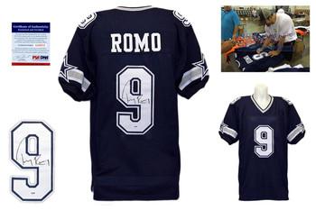 Tony Romo Signed Jersey - PSA DNA - Dallas Cowboys Autographed - Navy