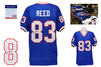 Andre Reed Signed Jersey - PSA DNA - Buffalo Bills Autographed - Blue - HOF 2014