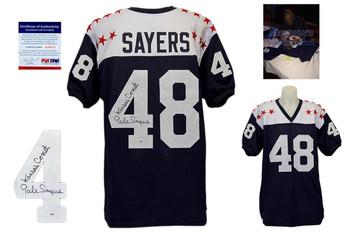 Gale Sayers Signed Jersey - College All-Stars Jersey - Kansas Jayhawks - PSA