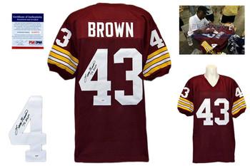 Larry Brown Signed Jersey - Washington Redskins Autographed - PSA DNA