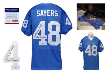 Gale Sayers Signed Jersey - Kansas Jayhawks Autographed - PSA