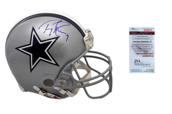 Tony Romo Signed Authentic Helmet - Pro Line Dallas Cowboys Autographed - JSA Witness