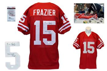 Tommie Frazier Signed Jersey - PSA DNA - Nebraska Cornhuskers Autographed - Red