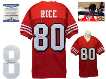 Jerry Rice Autographed Signed Jersey - TB
