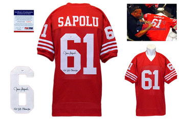 Jesse Sapolu Autographed Signed Jersey - JSA Witnessed Authentic