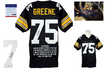 Joe Greene Signed Jersey - Pittsburgh Steelers Autographed - PSA DNA - STAT