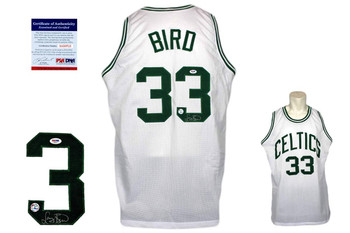 Larry Bird Signed Jersey - Beckett - Boston Celtics Autographed - WHT