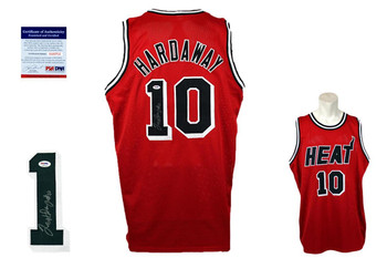 Tim Hardaway Signed Jersey - Black - PSA DNA - Miami Heat Autographed