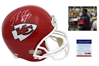 Jamaal Charles Signed Kansas City Chiefs Replica Helmet - Autographed - PSA DNA