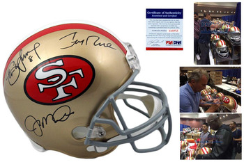 Montana, Rice, Young Autographed Signed Full Size San Francisco 49ers Rep Helmet -  Beckett