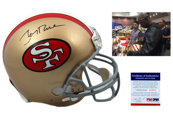 Jerry Rice Signed San Francisco 49ers Authentic Pro Line Helmet - PSA DNA Autographed