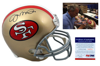 Joe Montana Signed San Francisco 49ers Full Size Helmet - Beckett Authentic