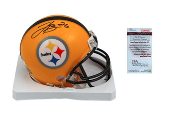 LeVeon Bell Signed Pittsburgh Steelers Throwback Mini Helmet - JSA Witness