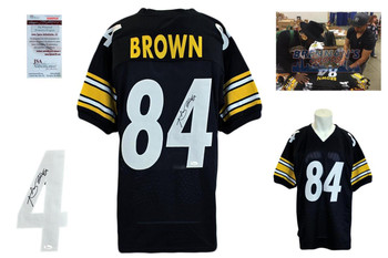 Antonio Brown Signed Jersey - JSA Witness - Pittsburgh Steelers Autographed