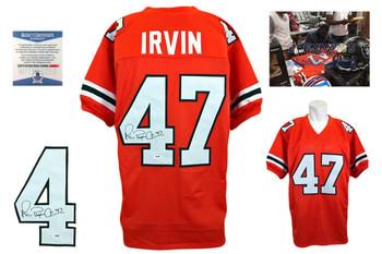 the best attitude d484e c19bd Michael Irvin Autographed Miami Hurricanes Full Size Helmet ...