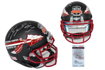 Kelvin Benjamin Signed Florida State Mini-Helmet - JSA Witness Autographed - Matte Black