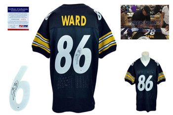 Hines Ward Signed Jersey - PSA DNA - Pittsburgh Steelers Autographed - Black
