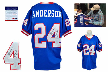 Ottis OJ Anderson Signed Jersey - PSA DNA - New York Giants Autographed