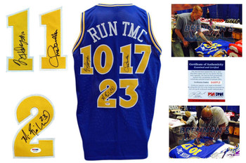 Richmond, Mullin, Hardaway RUN TMC Signed Jersey - PSA DNA - Golden State Warriors Autographed
