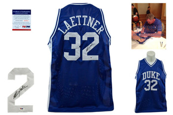 Christian Laettner Signed Jersey - PSA DNA - Duke Blue Devils Autographed