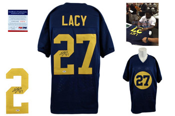 Eddie Lacy Signed Jersey - PSA DNA - Green Bay Packers Autographed - Navy