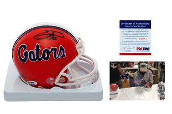 Emmitt Smith Signed Florida Gators Mini Helmet - PSA DNA Authenticated