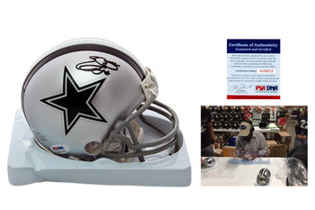 Emmitt Smith Signed Dallas Cowboys Mini Helmet - PSA Authentic