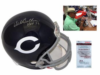 Dick Butkus Signed Chicago Bears Full Size Helmet - JSA Witness