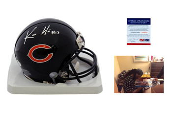 Kevin White Signed Chicago Bears Mini Helmet - JSA Witness