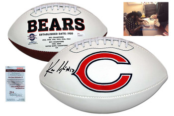 Kevin White Signed Football - JSA Witness - Chicago Bears Autographed