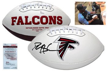 Deion Sanders Signed Atlanta Falcons Logo Football - JSA Witness