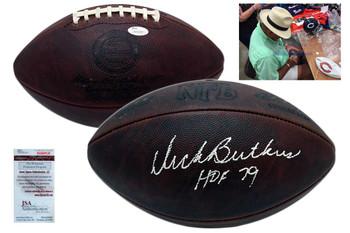 Dick Butkus Signed Wilson Duke Authentic Football - JSA Witness