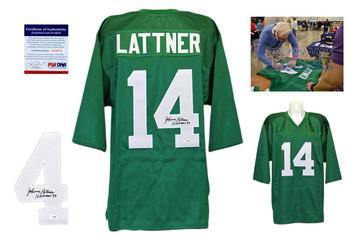 Johnny Lattner Signed Jersey - PSA DNA - Notre Dame Authentic Autograph