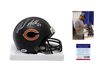 Jared Allen Signed Chicago Bears Mini Helmet - PSA DNA Authentic Autograph