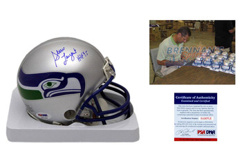 Steve Largent Signed Seattle Seahawks Mini Helmet - PSA DNA Authentic Autograph