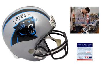 Luke Kuechly Signed Carolina Panthers Full Size Helmet - PSA DNA Authentic Autograph