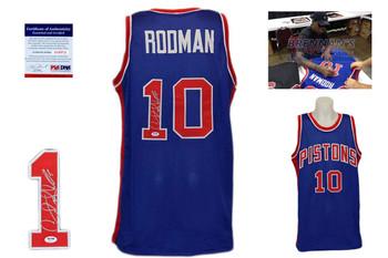 Dennis Rodman Signed Jersey - PSA DNA - Detroit Pistons Autographed