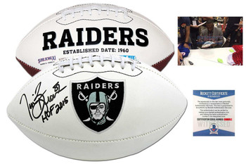 Tim Brown Signed Logo Football - PSA DNA - Oakland Raiders Autographed - HOF 2015