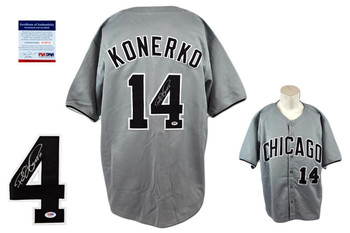 Paul Konerko Signed Jersey - PSA DNA - Chicago White Sox Autographed