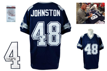 "Daryl ""Moose"" Johnston Signed Jersey - JSA Witness - Dallas Cowboys Autographed"