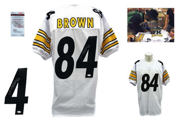 Antonio Brown Signed Jersey - JSA Witness - Pittsburgh Steelers Autographed - White