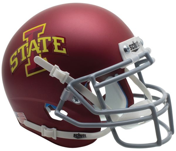 Iowa State Cyclones (Matte Maroon) Mini Authentic Schutt Helmet