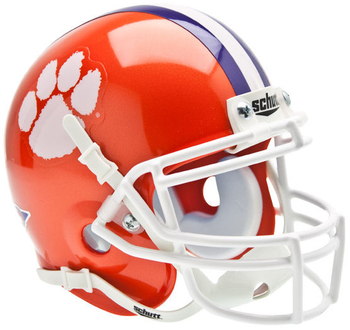 Clemson Tigers Mini Authentic Schutt Helmet