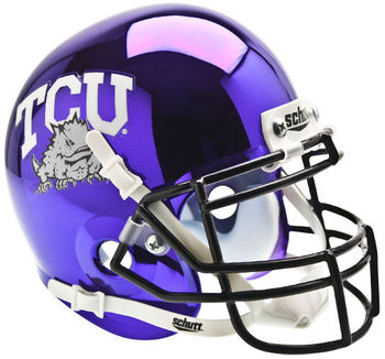 TCU Horned Frogs Chrome Mini Authentic Schutt