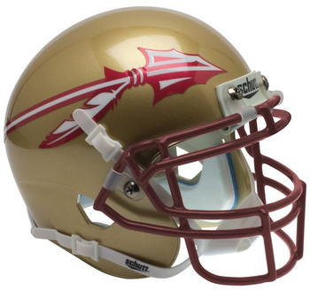 Florida State Seminoles Gold Mini Authentic Schutt Helmet